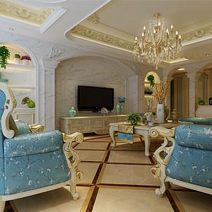 法式风格客厅