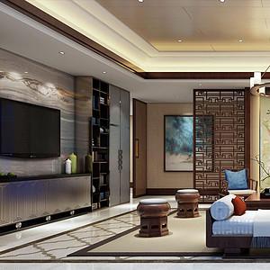 誉峰360㎡大平层新中式风格