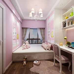 华润城 新中式风格儿童房装修效果图