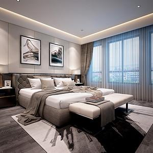橡树湾170平现代简约卧室