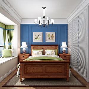 100㎡三居室美式风格儿童房效果图