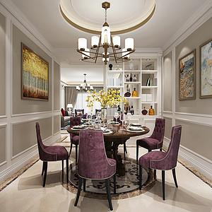 新世纪领居四房-简美餐厅 效果图