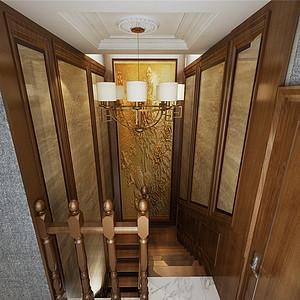 香格里拉简欧风格楼梯共享装修效果图