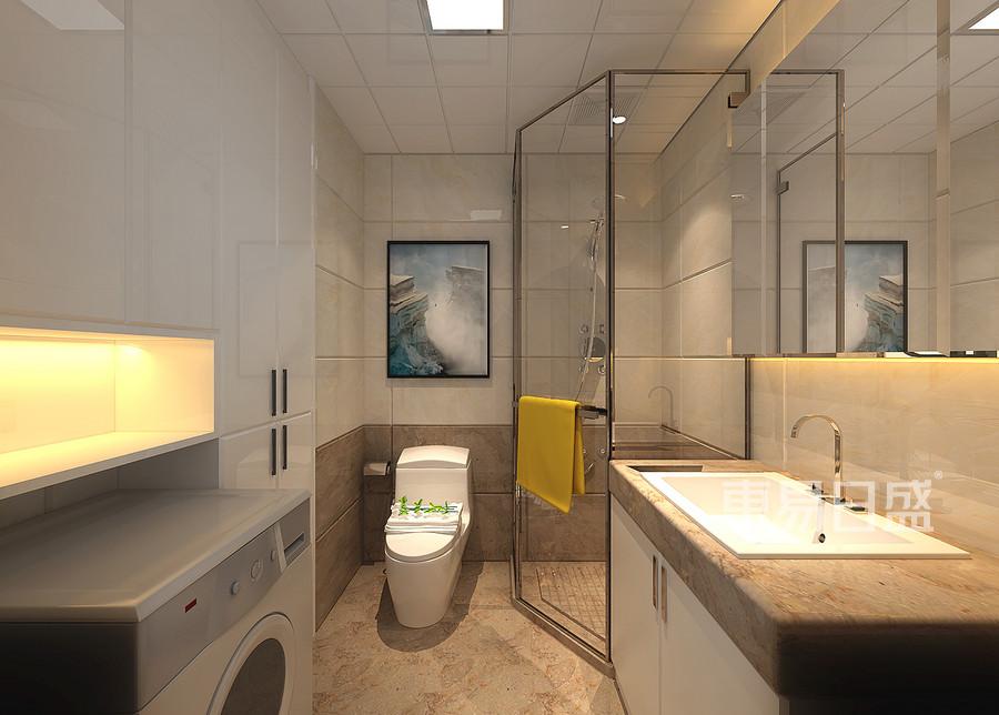 三居室-现代简约-卫生间-效果图