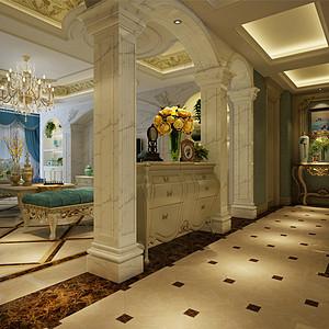 法式风格走廊
