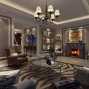 雅居乐300㎡别墅美式风格