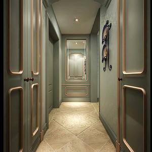 门厅设计出来一个小的衣帽间与喷砂镜相