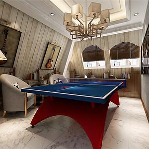 香格里拉简欧风格乒乓球室装修效果图
