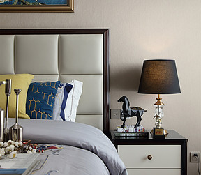 万达西地130㎡港式轻奢卧室