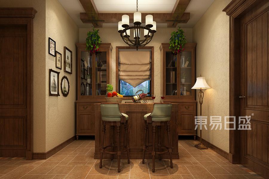 美式鄉村風格吧台裝修設計