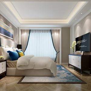 绿地西水东 现代美式 卧室