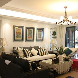 客厅实拍扬州紫金文昌美式风格装修