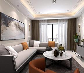 东湖睿园现代简约风格客厅装修效果图