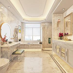 现代新奢华风格卫生间装修设计