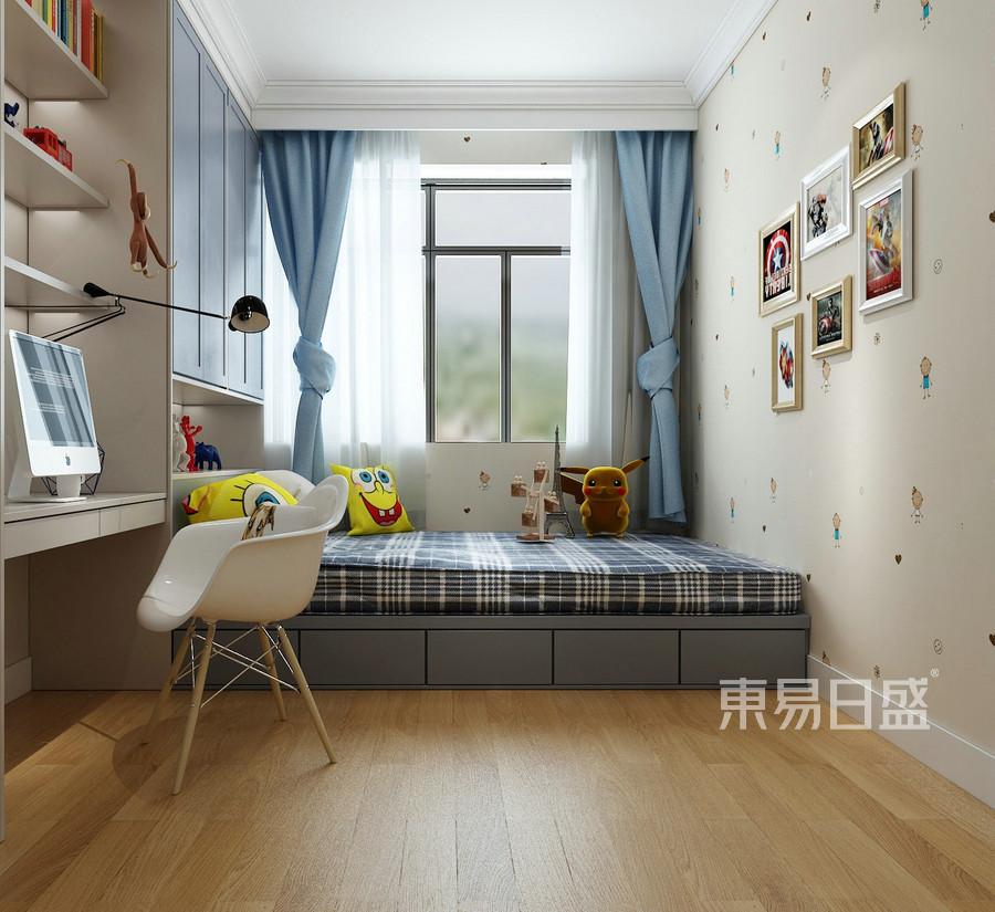 三居室-新中式-效果图