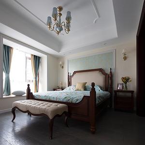 碧桂园城市花园260平美式风主卧室