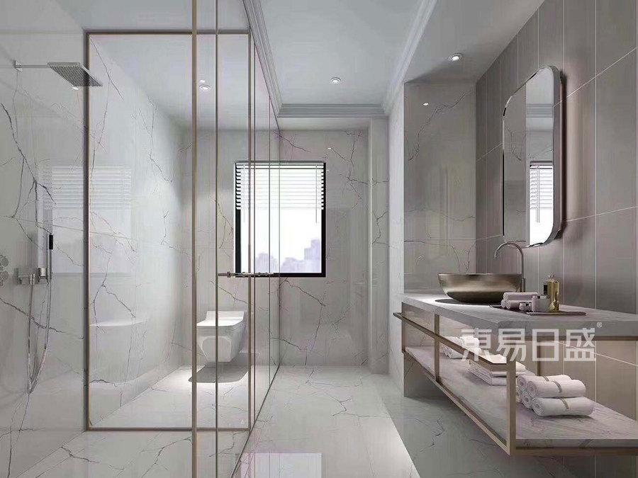 147㎡叠拼别墅 现代轻奢风格 卫生间装修效果图