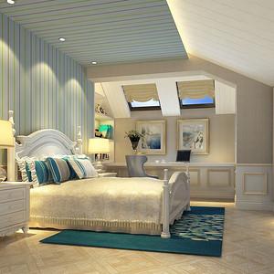 高尔夫简欧风格独栋别墅装修效果图-简欧卧室装修效果图 简欧卧室装