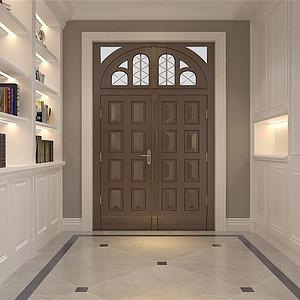 京基领墅现代风格门厅装修效果图