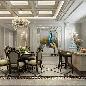 欧式古典风格-餐厅-装修效果图
