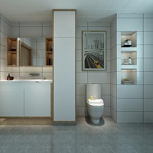 首开国风琅樾三居室现代简约卫生间装修效果图