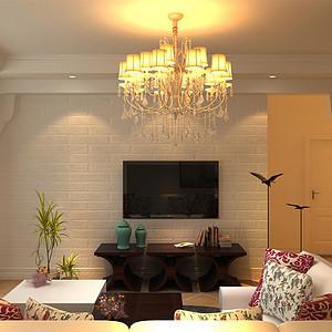 混搭地中海风格-客厅电视背景墙
