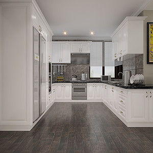 清梅园简美风格厨房装修效果图