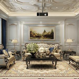 汇君城175平三室二厅欧式古典风格装修案例