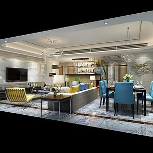 南城万科翡丽山装修效果图-170㎡现代简约风格四居室装修案例