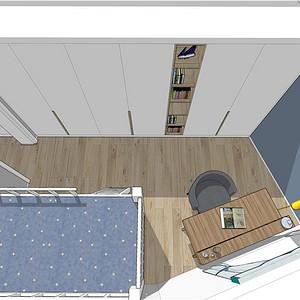 莘城公寓94平米简约装修效果图
