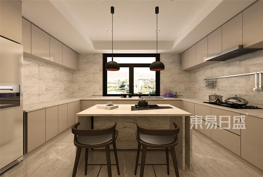 200平九号别墅现代风格二层厨房装修效果图
