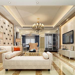 东城格兰名筑装修效果图-150㎡简欧风格四房二厅装修案例
