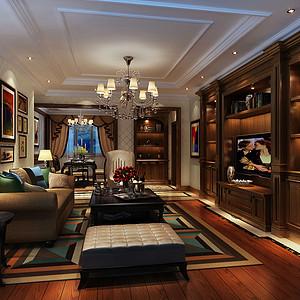 南苑A区180㎡四居室美式风格