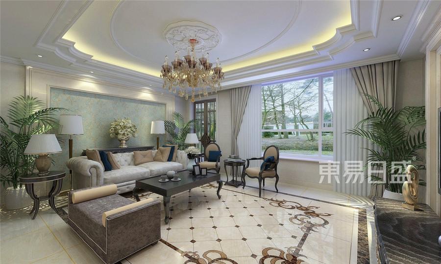 五一阳光欧式风格客厅装修效果图