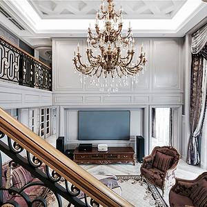 法式轻奢客厅装修效果图-法式装修效果图 法式装修图片 法式装修效果