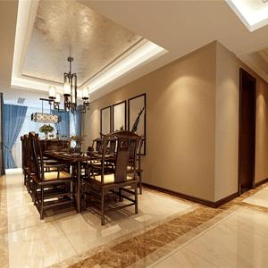 餐厅-扬州华信沁园新中式178㎡装修