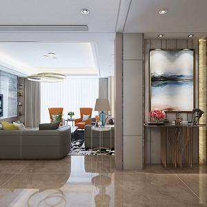 虎门万科云城215㎡现代轻奢四房二厅-装修效果图