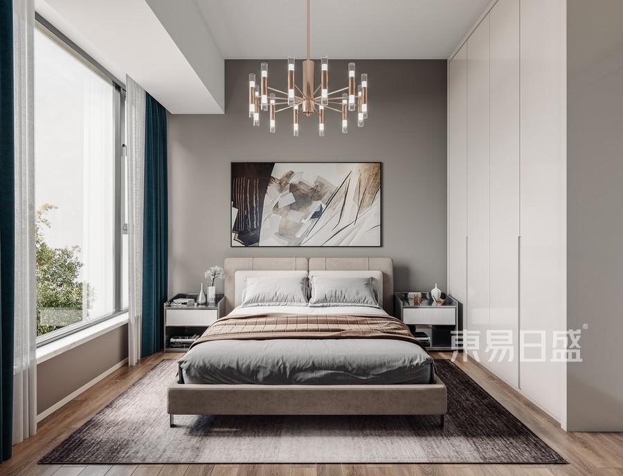 宏发前城-现代风格-卧室效果图