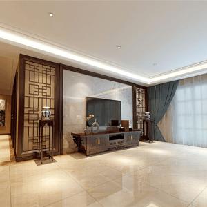 客厅-东易日盛扬州华信沁园新中式装修
