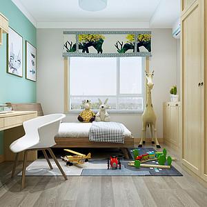 新中式风格-儿童房-装修效果图