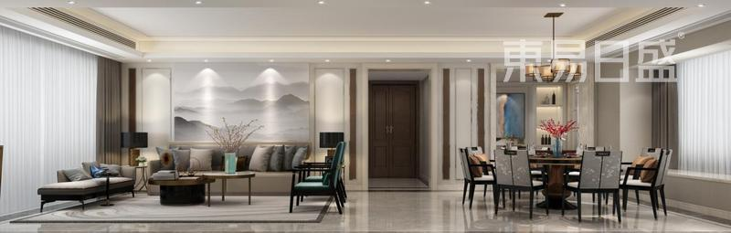 中西结合中式客厅装修效果图