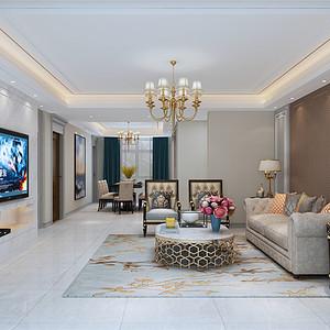 简欧风格--客厅