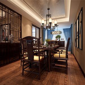 餐厅-扬州华信沁园装修新中式风格