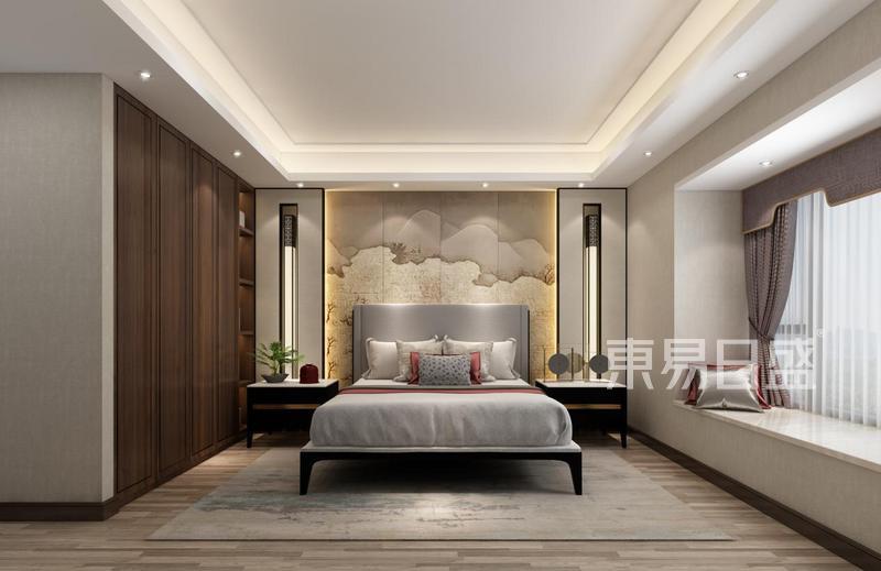 床头柜的摆放方向与床是一致