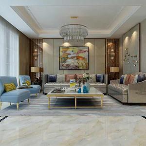 蓝光雍锦园364㎡别墅新中式风格