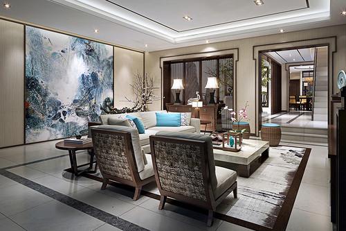 长乐别墅-新中式风格-420平米