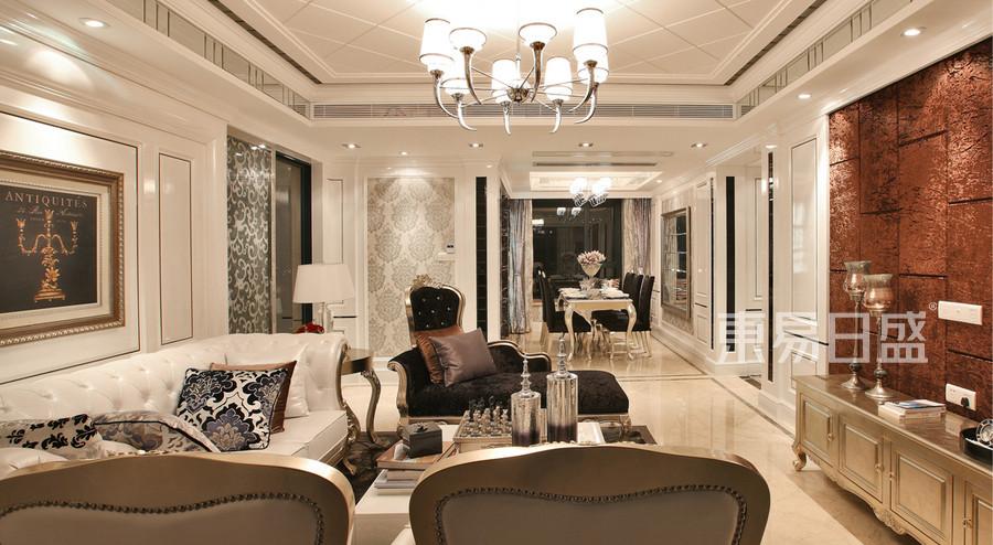 永嘉花苑 欧式新古典风格 客厅 装修效果图案例