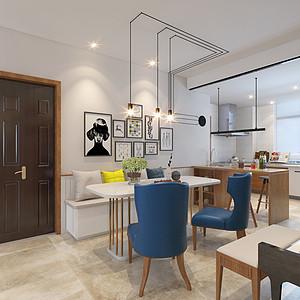 厨房餐厅打开,岛台设计符合生活需求