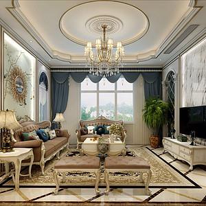 世贸石湖湾欧式古典600㎡客厅