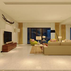 现代风格别墅客厅装修效果图片